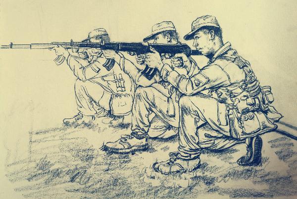 《青年报》:入军营手绘军人英姿感悟责任