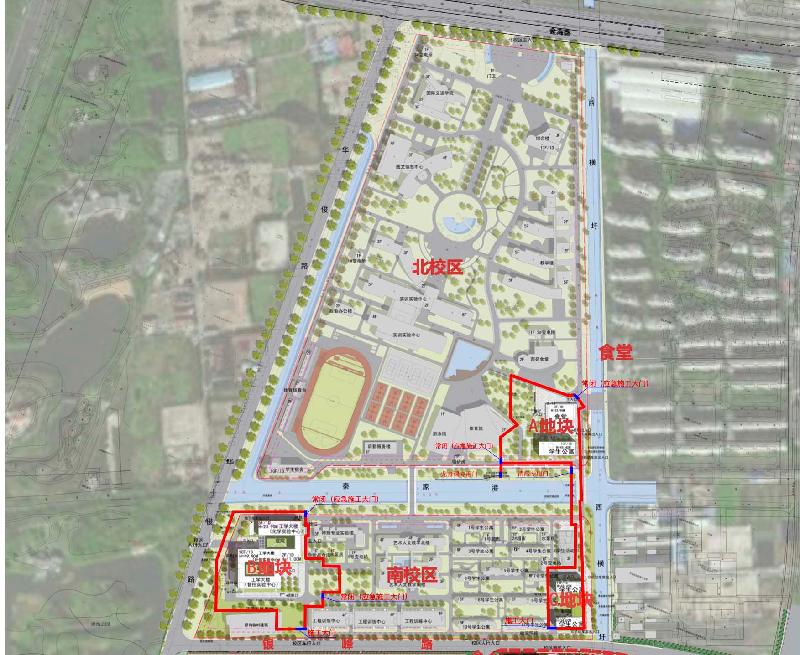 二期半项目施工区域封闭平面图